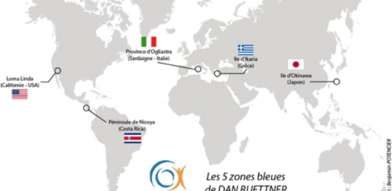 5 régions Blue Zones - ZVK Coaching - Ikigaï