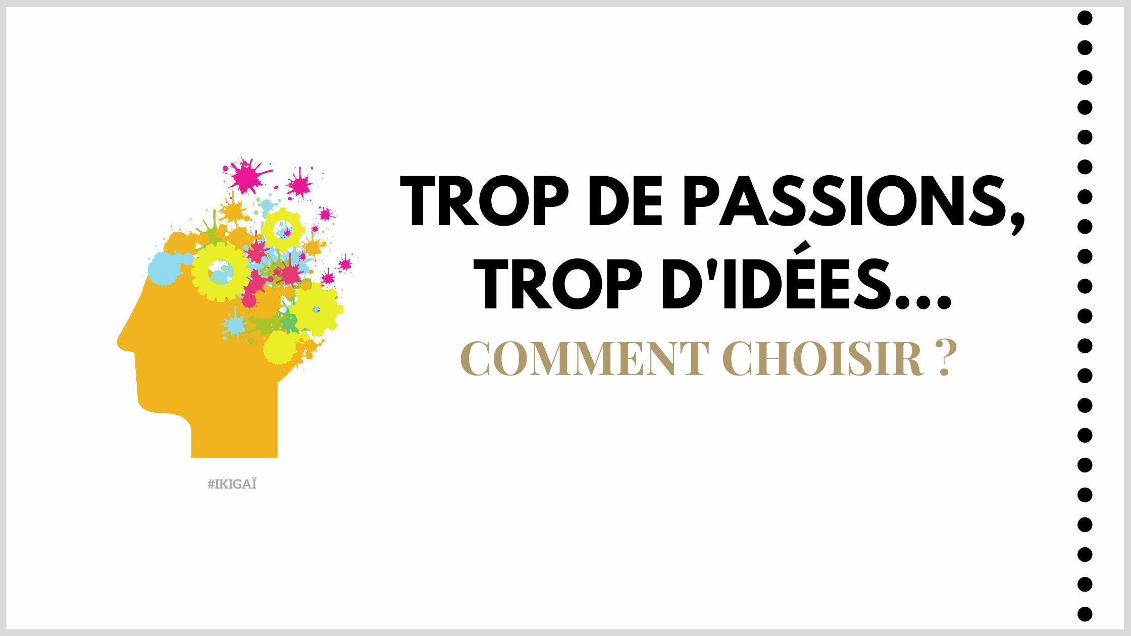 Trop de passions, trop d'idées: comment choisir?